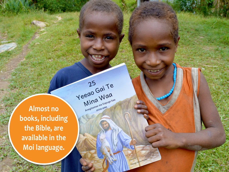 Bible story books help Moi people learn to read