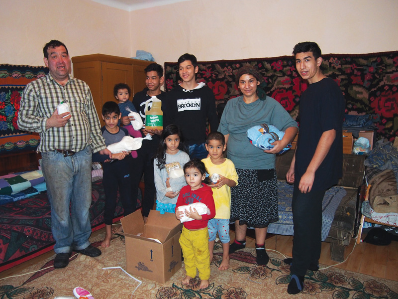Monthly Food Parcels for the Capra Family