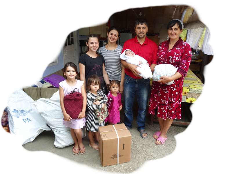 Clothing brings relief to Christian families in Moldova