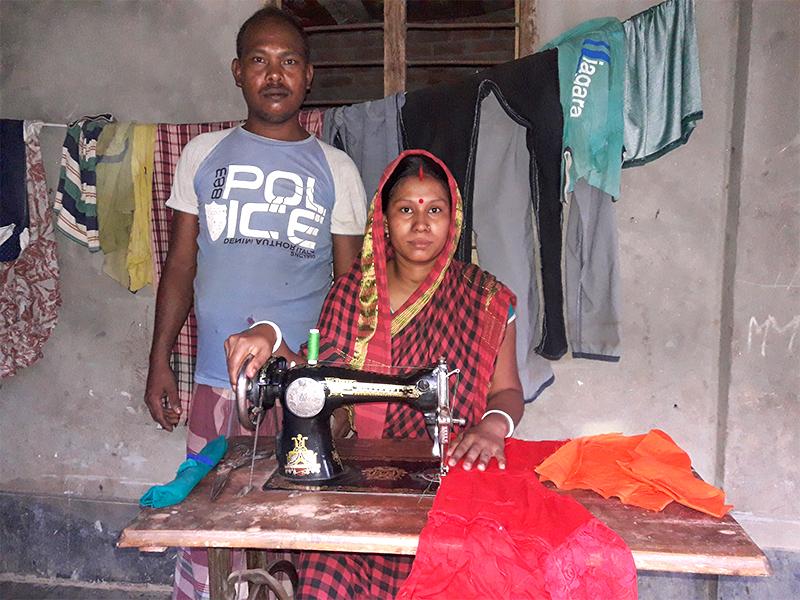 Tailoring classes help needy Bangladeshi family