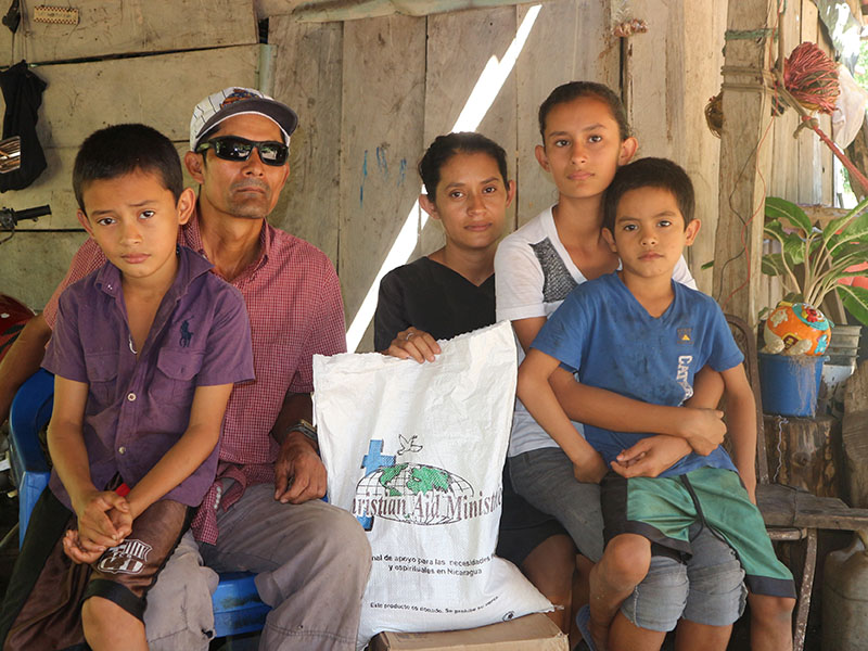 """Grateful for the food parcel program"""