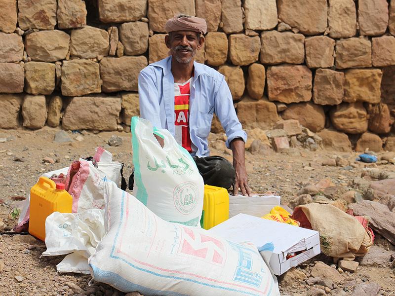 Yemenis overjoyed with the gift of food