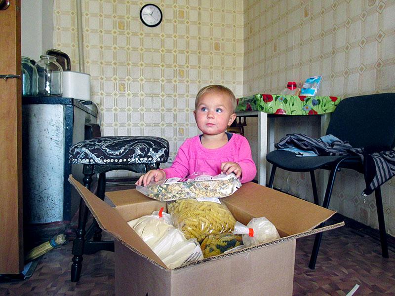 Food parcels bring hope to Ukrainians