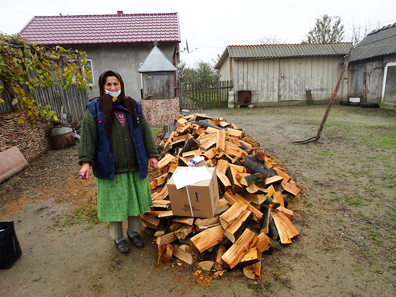 Helping a Romanian widow provide for winter