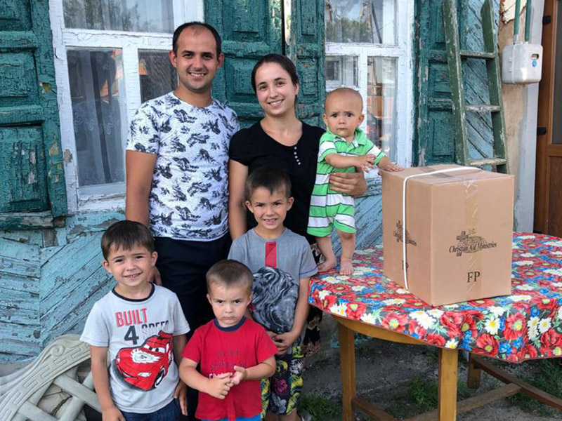 Food parcels:  A ray of sunshine